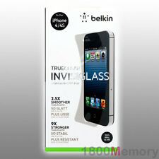 GENUINE Belkin Screen Force InvisiGlass Invisi Glass Protector Apple iPhone 4 4S