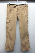 EUC Womens prAna Breathe Hiking Pants Brown Low Rise Mesh Pockets Sz XS W30 L28