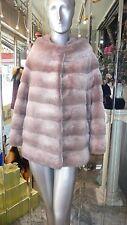 PREMIER Quality Two Tone Grey MINK FUR Coat Horizontal Design NOPKA MEXA $14000