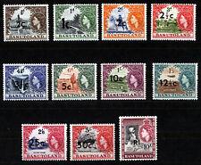 BASUTOLAND 1961 DEFINITIVES SG58/68b MNH