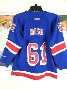 NY Rangers Rich NASH #61 Reebok NHL Blue Jersey Youth XL Stitched 100% Polyester