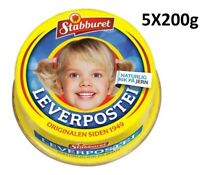 5X200g Leverpostei Made in Norway - Liver Pate for Kids and Family Breakfast