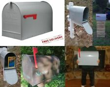 Outdoor Mounted Mailbox Elite Access Metal Post X Large Capacity Parcels Jumbo