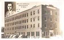 # B640 Canistota, S.D. Real Photo Postcard, Dr. Ortman Hotel