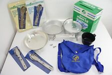 Vintage New & Used Girl Scouts Utensil & Mess Kit LOT - Camping Cookware