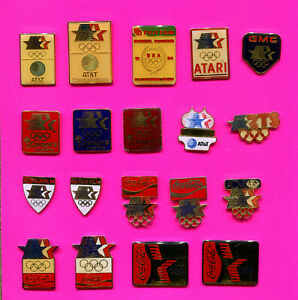 1984 OLYMPIC PIN SPONSOR PROTOTYPES GROUP #2 PICK A PIN 1-2 BUY ALL 19 LA PINS