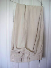 38 x 32 Mens Cream SILK Jos A Bank  Pleated Slacks Dress Cuffed Long Pants $200