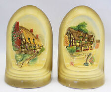 BOSSONS Vintage Bookends Book Ends Shakespeares Birthplace Anne Hathaway Cottage