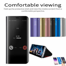 For Samsung Galaxy Note 20 Ultra 5G Note 9 10 Slim Smart Flip Mirror Case Cover