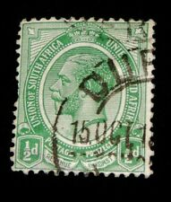 Vintage Stamp, UNION OF SOUTH AFRICA 1913 KING GEORGE V 1/2 d, Transvaal, # 2