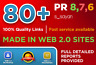 Create 80 High Page Rank Pr Da Google Seo Backlinks Dofollow Pr9 Traffic Links-S