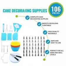 106Pcs Baking Supplies Kit DIY Cake Cupcake Decorating Icing tips Set Tools