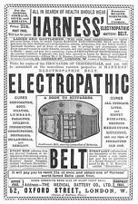MEDICAL BATTERY CO. Oxford St, Electropathic Belt - Antique Print 1887