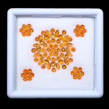 83 Pcs Natural Mexical Opal 3mm-5mm Mix Cut Sparkling Orange Faceted Gemstones