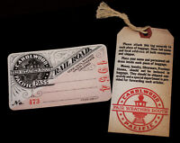 Walt Disney Carolwood Pacific Railroad Pass & Baggage Tag 1954 2003 Disneyland