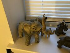 Lot of 8 Elephant Figures Figurines Statues Resin Crystal