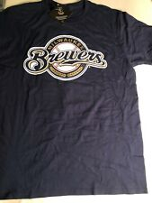 Milwaukee Brewers #22 Christian Yelich Men's Size Large Short Sleeve T-Shirt