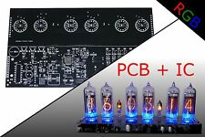 Nixie Clock KIT PCB + IC IN-14 Alarm RGB BACKLIGHT