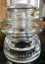 HEMINGRAY-56 29-55 CD203 EIN010 Clear Double Grooved Glass Insulator c1947-60s