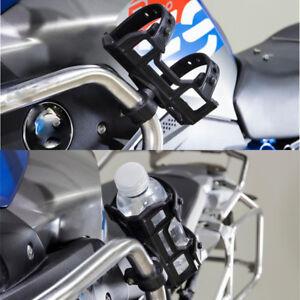"""Black Motorcycle 1"""" Bar Mount Cup Holder Cage Water Bottle Bracket for BMW Honda"""