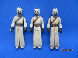 3 Vintage Star Wars Tusken Raider/Sand People Action Figures 1977 army builder l