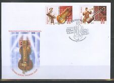 2011. Belarus. Joint issue of Belarus and Azerbaijan. Music Instruments.FDC