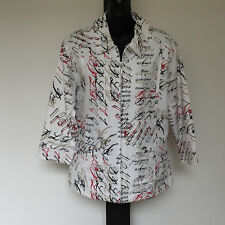 'BLACK PEPPER' AS NEW SIZE '10' WHITE, RED, BLACK  3/4 SLEEVE ZIP FRONT JACKET