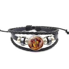 Harry Potter Gryffindor Leather & Glass Cabachon Wristband