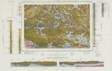 Pontypridd. Vintage geological survey map. Sheet 248. Wales Rhondda Valley 1975