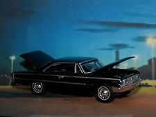 1963 63 1/2 FORD GALAXIE 500 FASTBACK COUPE 1/64 SCALE COLLECTIBLE MODEL DIORAMA