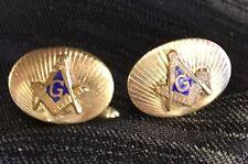Vintage Pair of Masonic 1/20 Gold Filled Cufflinks Freemasonry Masons Cuff Links