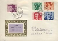"SUISSE / SWITZERLAND / SCHWEIZ 1969 Mi.906/10 ""Portraits Issue"" set on FDC"