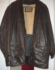 veste longue  en cuir  homme taille L,marque Redskins marron  doublure amovible