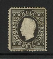 Portugal SC# 51a, Mint Hinged, minor embossing tears, ctr thin, side thin -S4720
