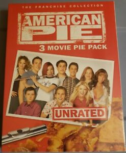 American Pie: 3 Movie Pie Pack (DVD, 2005, 3-Disc Set, Unrated) FREE SHIPPING!