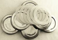 STAINLESS STEEL REPLACEMENT WIDE MOUTH MASON JAR CANNING LIDS W/ GASKET - BALL
