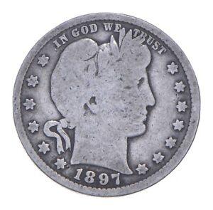Better 1897 - US Barber 90% Silver Quarter Coin Collection Set Break *985