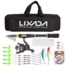 Lixada Telescopic Fishing Rod and Reel Combo Full Kit Fishing Gear Pole E1F8