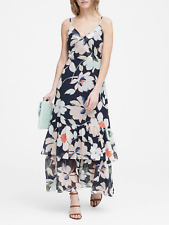 Banana Republic Women's Navy Floral Tiered Maxi Dress Sz. 6 NWT