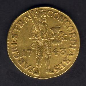 Netherlands - Utrecht. 1743 Gold - Trade Ducat.. EF
