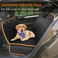 Pet Car Seat Cover Dog Safety Protector Mat Rear Back Seat Black Hammock Cushion