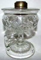 Antique Lomax Footed Hand Lamp Kerosene Oil Guard Trademark 1870 Diamonds, Loops