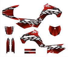 KLX140 graphics deco sticker kit for Kawasaki 2008-2014 #2500 Red