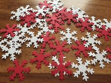 110+ Snowflake Table Confetti CARD Red White frozen Christmas Table Decorations
