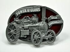 Oldtimer Traktor Gürtelschnalle Dampfmaschine Schlepper Buckle Vintage *123