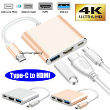 USB-C to HDMI Adapter 4K HDTV For Samsung Galaxy S21 S20 S10 S9 S8 Note8 Mac Pro