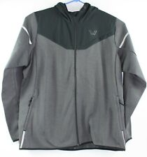 Peak Velocity Mens Size 3XL Black & Gray Full Zip Hooded Jacket New with Tags