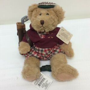 """Russ Bears from the Past CHIP THE GOLFER TEDDY BEAR 7"""" Plush Toy NEW"""