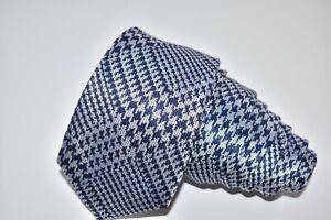 "Charles Tyrwhitt MEN'S TIE BLUE & SILVER/GEOMETRIC SLIM W: 3"" L: 60"""