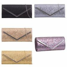Sequined with Magnetic Snap Clutch Handbags